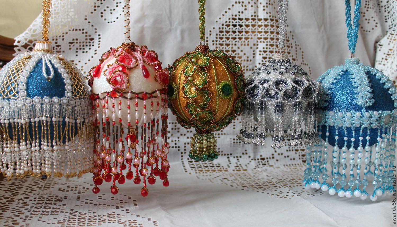 Christmas balls beaded vintage style Winter fairy tale, Christmas decorations, Krasnoyarsk,  Фото №1
