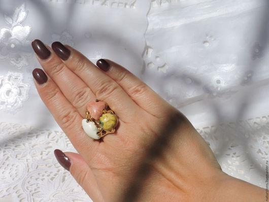 Кольца ручной работы. Ярмарка Мастеров - ручная работа. Купить кольцо с разными камнями. Handmade. Комбинированный, стильное украшение