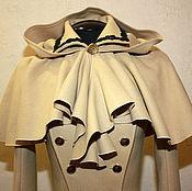 Одежда handmade. Livemaster - original item Beige drape hooded. Handmade.