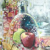 Картины и панно ручной работы. Ярмарка Мастеров - ручная работа Яблочное вино. Handmade.