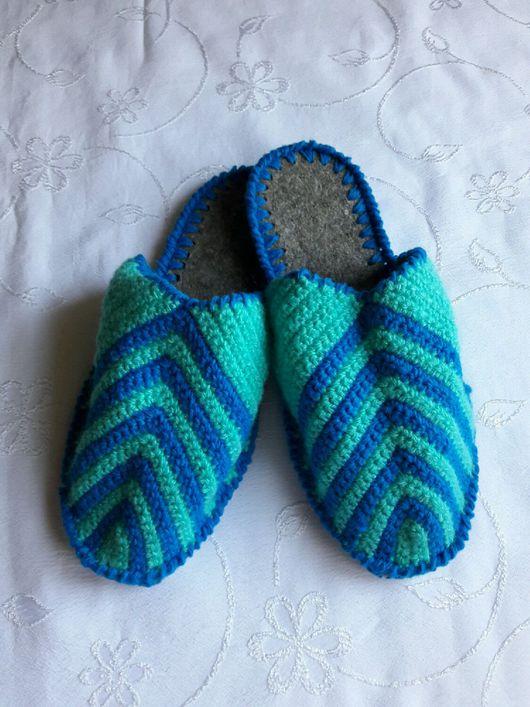Обувь ручной работы. Ярмарка Мастеров - ручная работа. Купить Тапочки для дома Мужские тапочки Вязаные тапки. Handmade. Тапочки