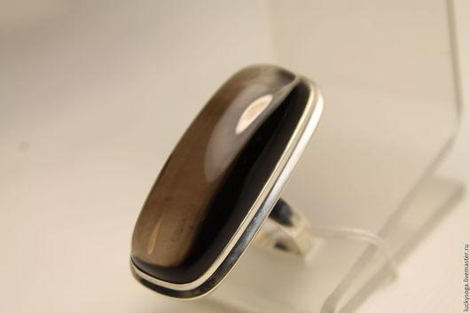 """Кольца ручной работы. Ярмарка Мастеров - ручная работа. Купить Кольцо с раухтопазом """" Геометрия стиля"""". Handmade. Коричневый"""