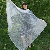 handmade. Livemaster - original item 45 gossamer shawl Feather charm, accessories, shawl. Handmade.
