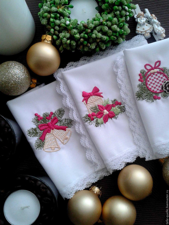"""Текстиль, ковры ручной работы. Ярмарка Мастеров - ручная работа. Купить """"Новогодние мотивы"""" программы машинной вышивки. Handmade."""