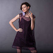 Одежда handmade. Livemaster - original item Violet Organza Striped Mini Dress «Leia». Handmade.