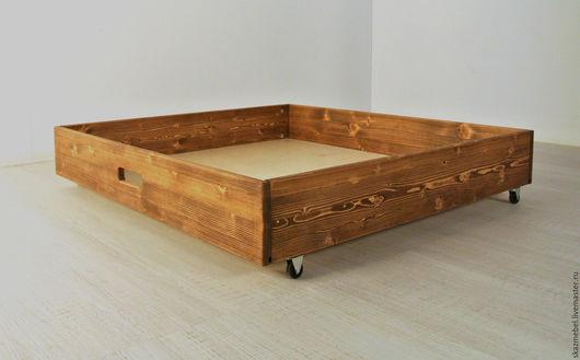 Детская ручной работы. Ярмарка Мастеров - ручная работа. Купить Ящик деревянный под кровать. Handmade. Детская комната