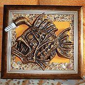 """Для дома и интерьера ручной работы. Ярмарка Мастеров - ручная работа светильник """"Рыба-монстрик"""". Handmade."""