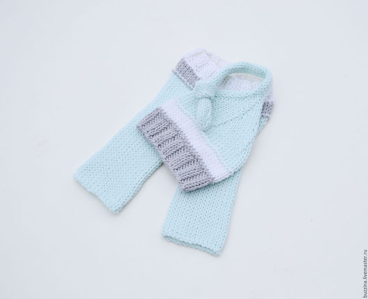 Для новорожденных, ручной работы. Ярмарка Мастеров - ручная работа. Купить Колпак для фотосессии новорожденных + штанишки Полосатые. Handmade.