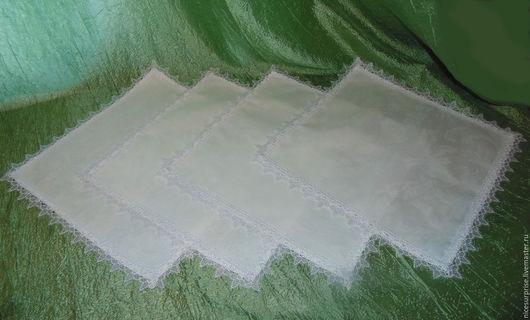 """Кухня ручной работы. Ярмарка Мастеров - ручная работа. Купить Салфетки для кухни """" Торжество"""". Handmade. Белый, кухонный текстиль"""