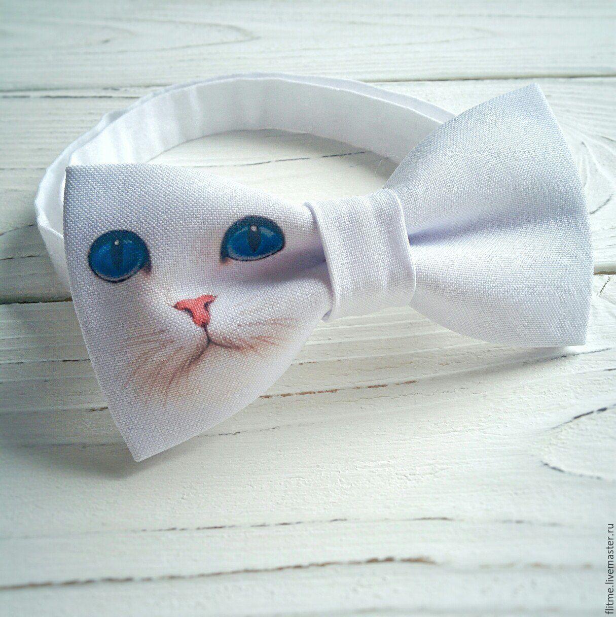 Галстуки, бабочки ручной работы. Ярмарка Мастеров - ручная работа. Купить галстук бабочка белый. Handmade. Бабочка с кошкой. Бабочка на свадьбу. Бабочка на выпускной.