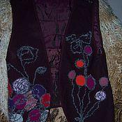 """Одежда ручной работы. Ярмарка Мастеров - ручная работа Жилет """"Фиолетт"""". Handmade."""