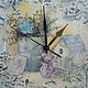 часы ручной работы `Травы Прованса`. сделано с любовью!