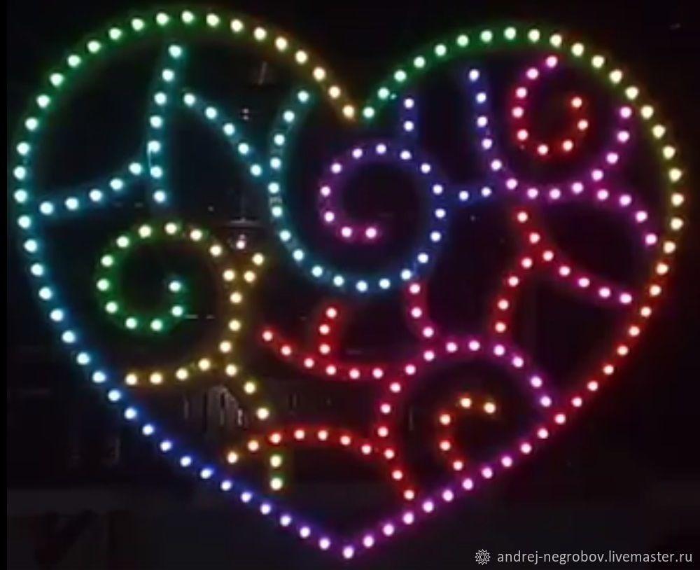 Сердце светильник светодиодный, Украшения, Воронеж, Фото №1