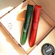 Канцелярские товары handmade. Livemaster - original item Case for leather pen case pencil case organizer. Handmade.