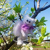 Куклы и игрушки ручной работы. Ярмарка Мастеров - ручная работа Ангельский мини-мишка ) маленькое вязаное чудо ) ангел ). Handmade.