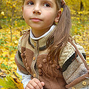 """Работы для детей, ручной работы. Ярмарка Мастеров - ручная работа Жилет """"Эко-осень"""". Handmade."""