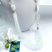 Украшения handmade. Livemaster - original item Necklace with rock crystal and baroque pearls. Handmade.