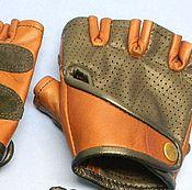 Митенки ручной работы. Ярмарка Мастеров - ручная работа Перчатки из кожи без пальцев. Handmade.