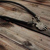 Украшения handmade. Livemaster - original item Leather pendant - Dragons and paw Velez. Handmade.