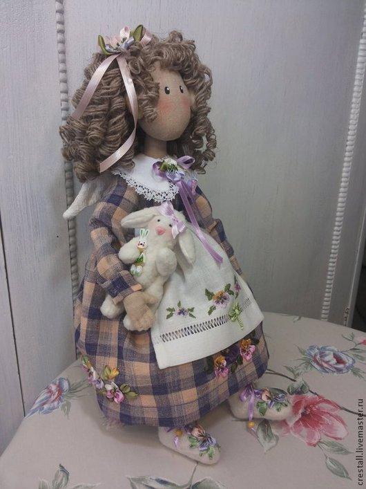 Коллекционные куклы ручной работы. Ярмарка Мастеров - ручная работа. Купить Фиалковый ангел Белли (прекрасная). Handmade. Сиреневый, лён