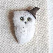 Украшения handmade. Livemaster - original item Boucle owl brooch made of wool. Handmade.