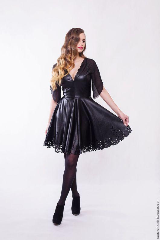 """Платья ручной работы. Ярмарка Мастеров - ручная работа. Купить Платье """"Noir Black"""". Handmade. Черный, платье коктейльное"""