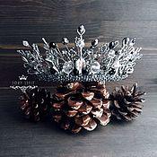 Свадебный салон handmade. Livemaster - original item Crown white snow Queen wedding white. Handmade.