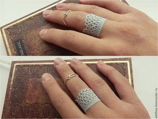 """Кольца ручной работы. Ярмарка Мастеров - ручная работа. Купить Кружевное кольцо """"Нежность неба"""" голубое. Handmade. Голубой, нежность"""