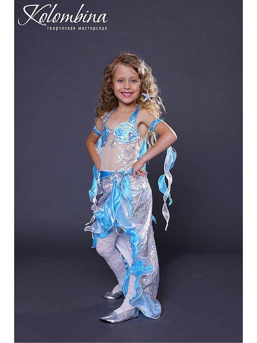 Детские карнавальные костюмы ручной работы. Ярмарка Мастеров - ручная работа. Купить Карнавальный костюм русалка. Handmade. Бирюзовый, трикотаж
