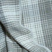 """Для дома и интерьера ручной работы. Ярмарка Мастеров - ручная работа Покрывало из льна """"Клеточка"""", 200 х 220см. Handmade."""