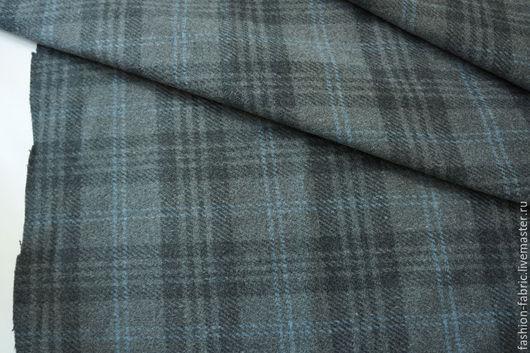 Шитье ручной работы. Ярмарка Мастеров - ручная работа. Купить Ткань Пальтовая шерсть в клетку серая 6101517 Италия Цена за метр. Handmade.