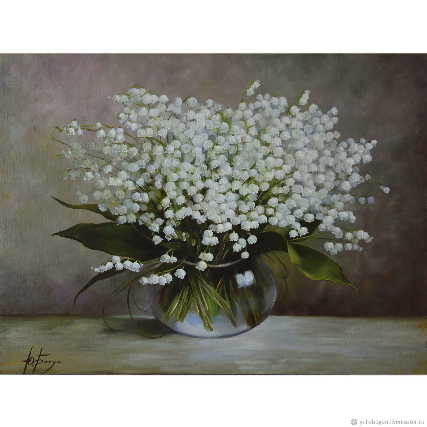 Oil painting ' Lily of the Valley may fragile miracle', Pictures, Belorechensk,  Фото №1
