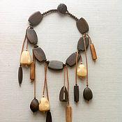 """Украшения handmade. Livemaster - original item Wooden necklace """"Fine motor skills"""". Handmade."""