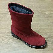 Обувь ручной работы. Ярмарка Мастеров - ручная работа Сапожки велюровые. Handmade.