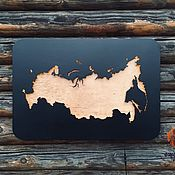 Сувениры и подарки handmade. Livemaster - original item Map of Russia with illumination L. Handmade.