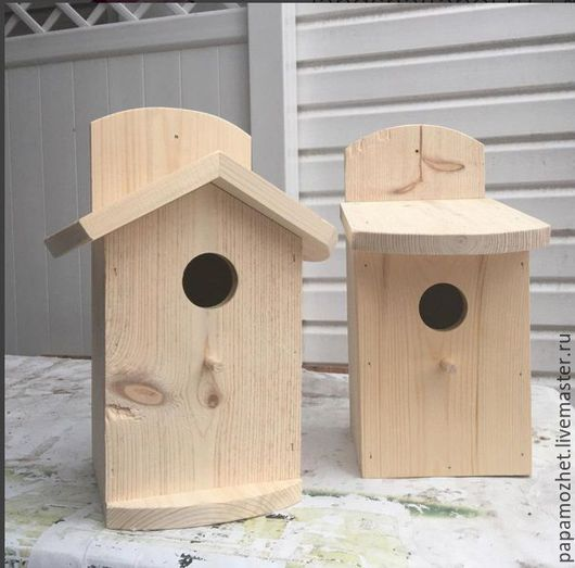 Сет -Скворечники для птиц: Сладкая парочка `Модный & Важный ` купить два скворечника всего за 1200,00 руб.