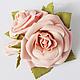 """Заколки ручной работы. Ярмарка Мастеров - ручная работа. Купить Заколка """"Розы"""" (мини). Handmade. Разноцветный, для прически, свадьба, фоамиран"""