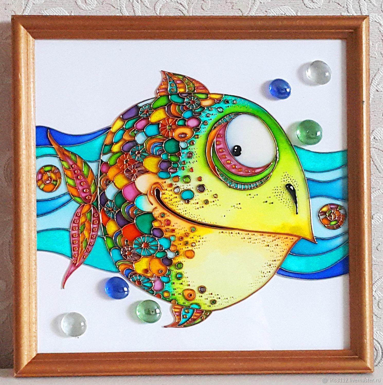 Картинки витраж рыбы
