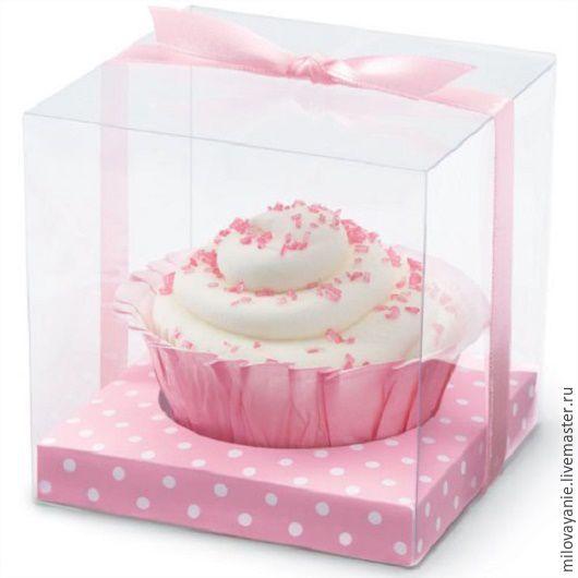 Упаковка ручной работы. Ярмарка Мастеров - ручная работа. Купить Коробочка для пирожных Розовый горошек, Wilton США. Handmade. Розовый