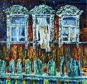 """Картины и панно ручной работы. Ярмарка Мастеров - ручная работа """"За забором"""". Handmade."""