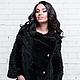 Пальто  из вязаной норки `Трансформер`