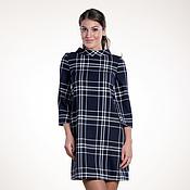 Одежда ручной работы. Ярмарка Мастеров - ручная работа 039: свободное платье из тонкой шерсти в клетку, офисное платье. Handmade.