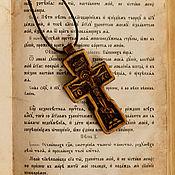 """Украшения ручной работы. Ярмарка Мастеров - ручная работа """"Каргополь"""" деревянный крест-распятие с молитвой. Handmade."""
