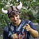 """Шапки ручной работы. Заказать Шлем викинга """"Валькнут"""". Лес чудес. Ярмарка Мастеров. Прикольная шапка, лес чудес, Север"""