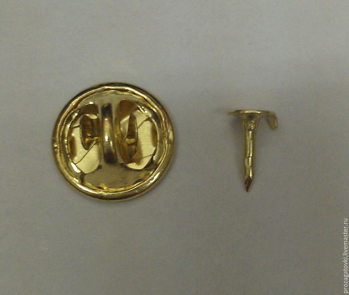 prozagotovki OMD Lab крепление для значка, цанга. Цвет золотистый. Металл.