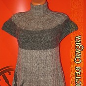 Одежда ручной работы. Ярмарка Мастеров - ручная работа Туника из козьей шерсти 100%. Handmade.