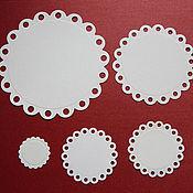 Вырубки для скрапбукинга ручной работы. Ярмарка Мастеров - ручная работа Вырубка для скрапбукинга  Eyelet Circles 5 элементов. Handmade.