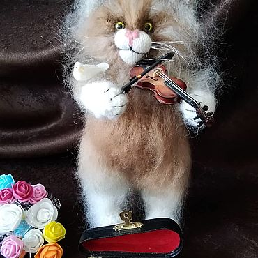 Куклы и игрушки ручной работы. Ярмарка Мастеров - ручная работа Мягкие игрушки: Котик. Handmade.