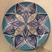 Посуда ручной работы. Ярмарка Мастеров - ручная работа Тарелка декоративная  Гармония. Handmade.
