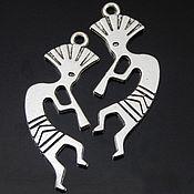 """Подвески ручной работы. Ярмарка Мастеров - ручная работа Металлическая подвеска для создания украшений """"Кокопелли"""". Handmade."""